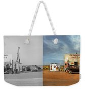 Gas Station - In The Middle Of Nowhere 1940 - Side By Side Weekender Tote Bag