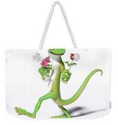 Gecko In Love Weekender Tote Bag