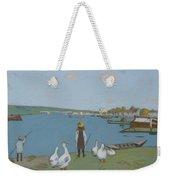 Geese By The River Loing 02 Weekender Tote Bag