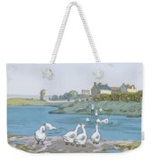 Geese By The River Loing 04 Weekender Tote Bag