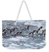 Gentoo Penguins By Alan M Hunt Weekender Tote Bag