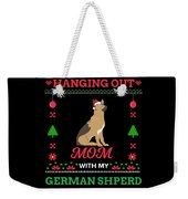 German Shepherd Ugly Christmas Sweater Xmas Gift Weekender Tote Bag