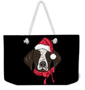 German Shorthair Xmas Hat Dog Lover Christmas Weekender Tote Bag