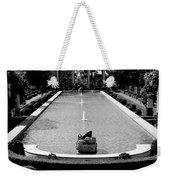 Getty Villa Massive Pool Black White Landscape  Weekender Tote Bag