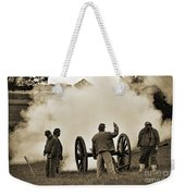 Gettysburg Battlefield - Confederate Artillerymen Firing Cannon Weekender Tote Bag