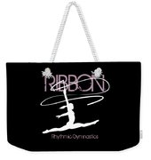 Girl Competing In Female Rhythmic Gymnastics Jumping With A Ribbon Weekender Tote Bag