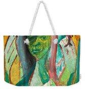 Girl In A Garden Weekender Tote Bag