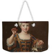 'girl With A Bird Cage'. Ca. 1712. Oil On Canvas. Weekender Tote Bag