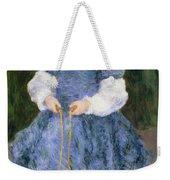 Girl With Jumping Rope, 1876 Weekender Tote Bag
