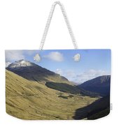 glen in highlands known as  the Rest and be Thankful Weekender Tote Bag
