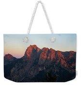 Glowing Mountains Weekender Tote Bag