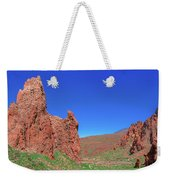 Glowing Red Rocks In The Teide National Park Weekender Tote Bag