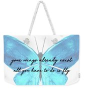 Go Fly Quote Weekender Tote Bag