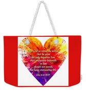 God's Heart Weekender Tote Bag