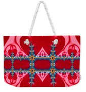 Gods Love And Mercy Is Infinite Fractal Abstract Hearts Weekender Tote Bag by Rose Santuci-Sofranko