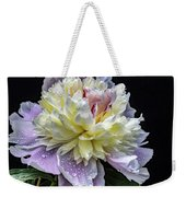 God's Perfection In A Festiva Maxima Peony Weekender Tote Bag