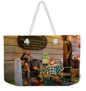 Gogarty And Joyce Statues Two Weekender Tote Bag