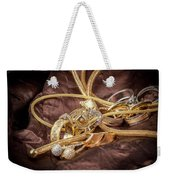 Gold Jewelry Close Up Weekender Tote Bag
