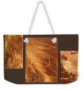 Wings Of Gold Brown Bckgrnd Weekender Tote Bag