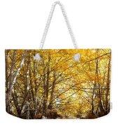 Golden Autumn Light Weekender Tote Bag
