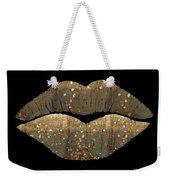 Golden Dreams Fantasy Lips Fashion Art Weekender Tote Bag
