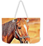 Golden Horse Weekender Tote Bag