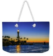 Golden Lighthouse Reflection Weekender Tote Bag by Tom Claud