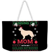 Golden Retriever Ugly Christmas Sweater Xmas Gift Weekender Tote Bag