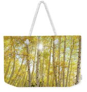 Golden Sunshine On An Autumn Day Weekender Tote Bag