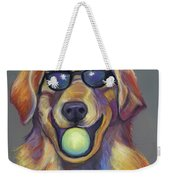 Golden With Ball Weekender Tote Bag