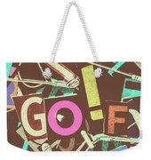 Golfing Print Press Weekender Tote Bag