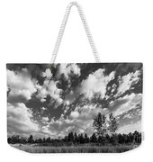 Good Harbor Shoreline Black And White Weekender Tote Bag