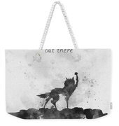 Good Luck Out There Black And White Weekender Tote Bag