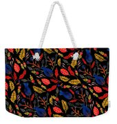 Gouache Hand Painted Botanical Weekender Tote Bag
