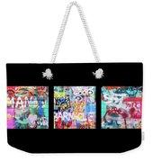 Graffitis Triptych Weekender Tote Bag