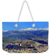 Granada, The Alhambra And Sierra Nevada From The Air Weekender Tote Bag