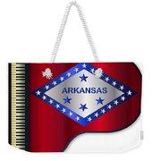 Grand Piano Arkansas Flag Weekender Tote Bag