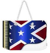 Grand Piano Confederate Flag Weekender Tote Bag