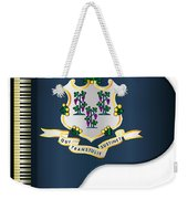 Grand Piano Connnecticut Flag Weekender Tote Bag