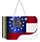 Grand Piano Georgia Flag Weekender Tote Bag