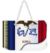 Grand Piano Iowa Flag Weekender Tote Bag