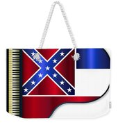 Grand Piano Mississippi Flag Weekender Tote Bag
