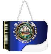 Grand Piano New Hampshire Flag Weekender Tote Bag