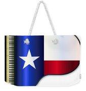 Grand Piano Texas Flag Weekender Tote Bag