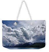 Grand Teton Mountains And Clouds Weekender Tote Bag