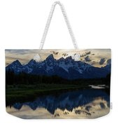 Grand Teton Sunset Weekender Tote Bag by Michael Chatt