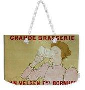 Grande Brasserie, 1894 Belgian Vintage Brewery Poster Weekender Tote Bag