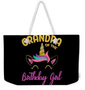 Grandpa Of The Unicorn Birthday Girl Weekender Tote Bag