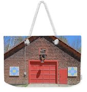 Grantham Barn With Quilt Squares Weekender Tote Bag