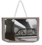 Gray Day Bridging Weekender Tote Bag